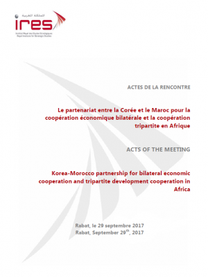 Acts of the meeting on Korea-Morocco partnership for bilateral economic cooperation and tripartite development cooperation in Africa