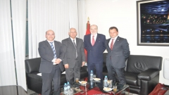 Work meeting with a delegation of the Crans Montana Forum (March 3,2014)