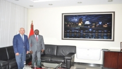Visit to IRES of the Chargé affaires of the Embassy of Guinea Bissau in Morocco (October 9,2015)